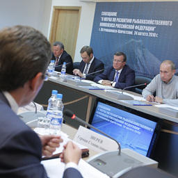Совещание «О мерах по развитию рыбохозяйственного комплекса Российской Федерации» (фото пресс-службы Правительства России)