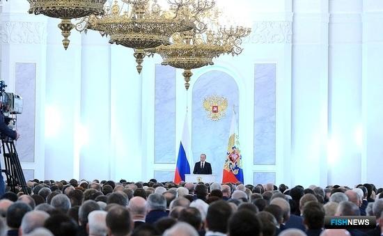 Президент Владимир ПУТИН выступил с посланием Федеральному Собранию. Фото пресс-службы Кремля