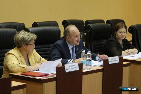 Совместное заседание камчатской Комиссии по обеспечению устойчивого развития экономики и социальной стабильности и Штаба при губернаторе по мониторингу продовольственного рынка. Фото пресс-службы правительства Камчатки