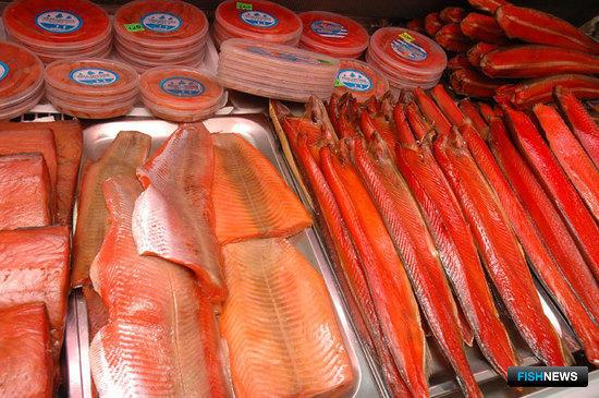 Витрины с рыбопродукцией