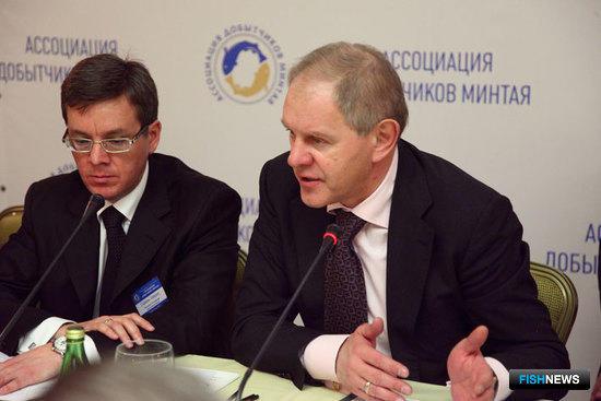 Президент АДМ Герман ЗВЕРЕВ и руководитель Росрыболовоства Андрей КРАЙНИЙ