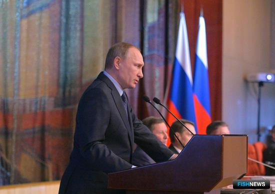 Президент России Владимир ПУТИН на семинаре-совещании председателей судов. Фото пресс-службы Кремля