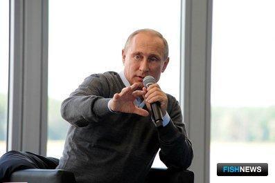 Владимир ПУТИН на Всероссийском молодежном форуме «Селигер-2014». Фото пресс-службы Президента РФ.