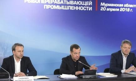 Вопросы рыбной отрасли обсудили на совещании у премьер-министра Дмитрия МЕДВЕДЕВА. Фото пресс-службы Правительства РФ