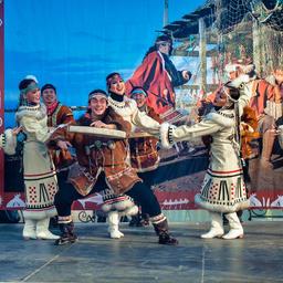 Коренные жители Камчатки на празднике «Алхалалалай». Фото пресс-службы правительства края