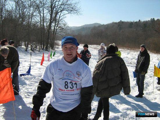 Бессменный участник лыжных гонок, студент Дальрыбтуза Михаил Коровушкин (4 курс)