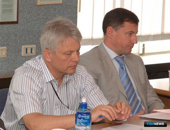 Сергей КОНОНЮК (генеральный директор ООО «Востокрыбпром») и Петр САВЧУК (Президент УК БАМР)