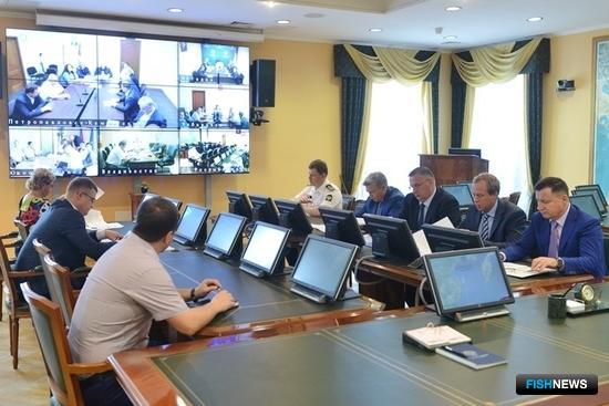 Очередное заседание штаба лососевой путины провел замглавы Росрыболовства Василий Соколов. Фото пресс-службы Росрыболовства