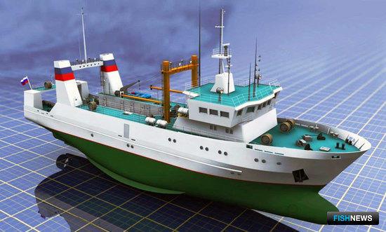 Средний рыболовный траулер морозильный для Дальнего Востока и Атлантики (проект 13728 - КБ «Восток» ОАО «ЦТСС»)