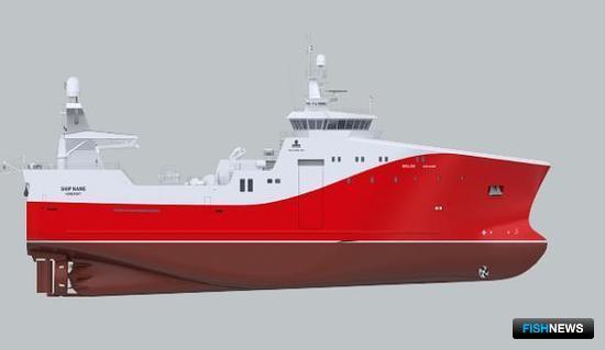 Внешний вид судна, планирующегося к постройке