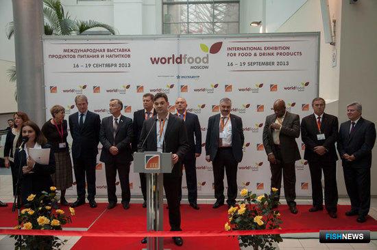 Открытие выставки World Food Moscow 2013