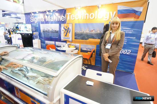 Россию на выставке представило ООО «Сигма Марин Технолоджи»