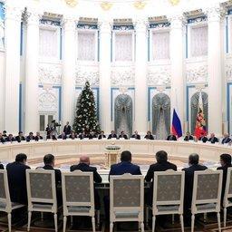 Глава государства Владимир ПУТИН провел встречу с руководством Совета Федерации и Госдумы. Фото пресс-службы президента РФ