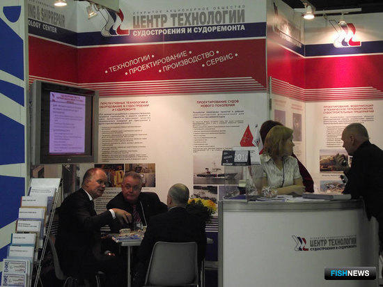 Стенд ОАО «Центр технологии судостроения и судоремонта» на выставке «Интерфиш-2010»