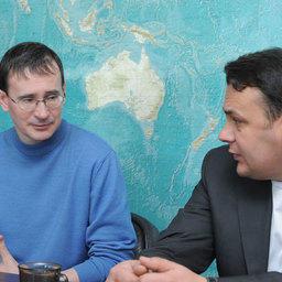 Член Общественного совета при Росрыболовстве Эдуард КЛИМОВ и член Совета Ассоциации добытчиков минтая Александр ПОПОВ