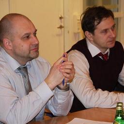 """Виктор РЯБИКОВ, региональный бизнес-менеджер по Европе, России и странам СНГ компании """"Альфа Лаваль"""" (слева)"""
