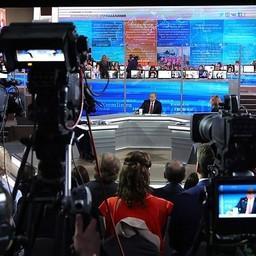 Президент Владимир ПУТИН ответил на вопросы в рамках прямой линии. Фото с пресс-службы главы государства