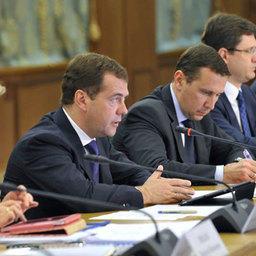 Председатель Правительства Российской Федерации Дмитрий МЕДВЕДЕВ провел совещание по вопросам cоциально-экономического развития Сахалинской области. Фото пресс-службы Правительства РФ