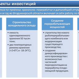 Основные объекты инвестиций