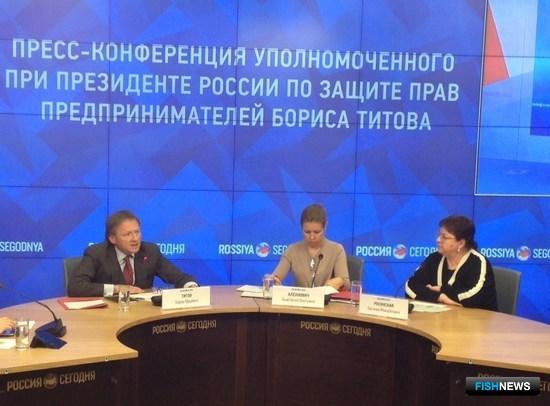 Пресс-конференция бизнес-омбудсмена Бориса ТИТОВА