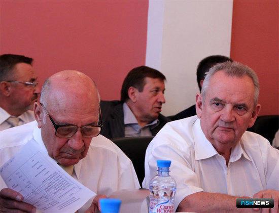 Председатель правления Росрыбакколхозсоюза Борис БЛАЖКО и президент Союза рыбопромышленников Запада Эрнст СМЕЛОВ