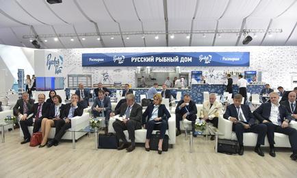 На Петербургском международном экономическом форуме рыбаки обсудили с руководством отрасли ключевые вопросы развития рыбохозяйственного комплекса. Фото пресс-службы ФАР
