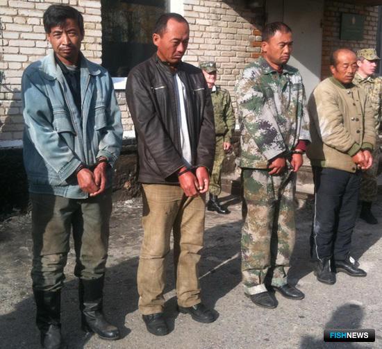 Китайских рыболовов поймали на озере Ханка