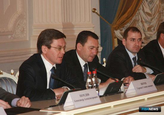 Встреча первого вице-премьера Виктора Зубкова с руководителями предприятий рыбохозяйственного комплекса. Москва, декабрь 2009 г.