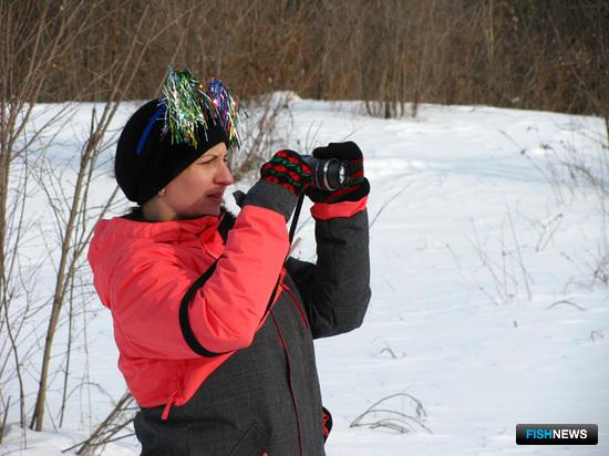 Профсоюзный лидер ВМРК Татьяна УСТИМЕЦ внимательно фиксирует все старты и финиши своих курсантов