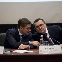 Руководитель Федерального агентства по рыболовству Илья ШЕСТАКОВ и министр сельского хозяйства РФ Николай ФЕДОРОВ