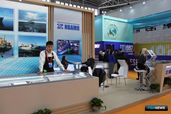 НБАМР, участник российского объединенного стенда на рыбохозяйственной выставке в Циндао China Fisheries and Seafood Expo-2017