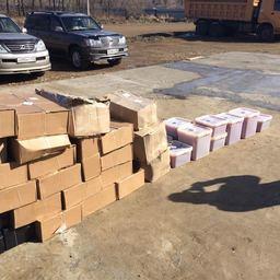 Более 1,5 тонны ценных биоресурсов изъяли приморские пограничники у гражданина Китая в селе Бойкое. Фото пресс-группы Погрануправления ФСБ России по Приморскому краю