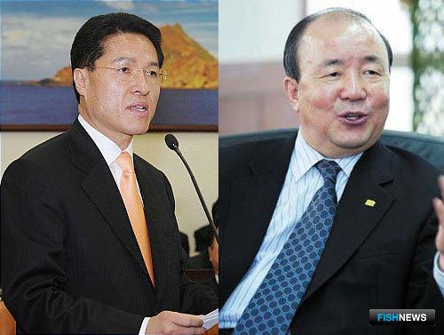 Министры Чон Унчхон и Чон Чжонхван