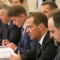 Премьер-министр Дмитрий МЕДВЕДЕВ провел встречу с руководителями предприятий рыбной отрасли Дальнего Востока. Фото пресс-службы Правительства РФ