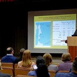 Прогноз вылова тихоокеанских лососей для Сахалинской области на 2018 г. представили в СахНИРО. Фото пресс-службы института