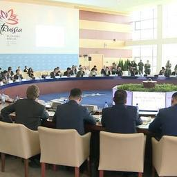 Встреча представителей России и Южной Кореи в рамках Восточного экономического форума