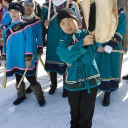 Представители коренных народов Сахалинской области. Фото пресс-службы правительства региона