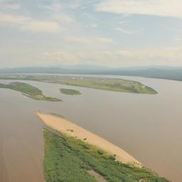Вид на Амур с воздуха
