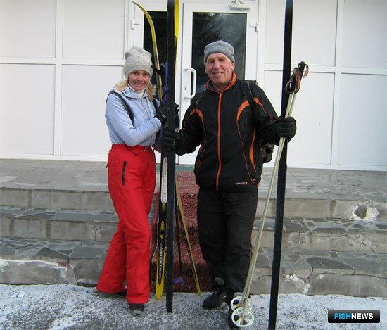Чемпион среди женщин Наталья Семенова и серебряный призер в личном зачете Борис БУДАНЦЕВ
