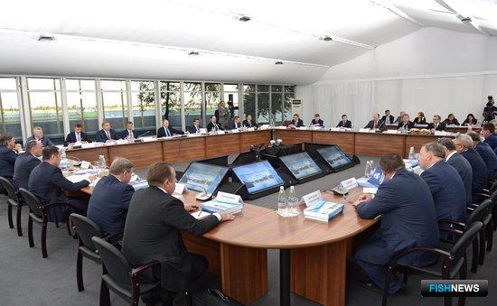 Тема строительства рыбоходно-нерестового канала вокруг Кочетовского гидроузла обсуждалась на заседании президиума Госсовета в августе. Фото пресс-службы президента РФ