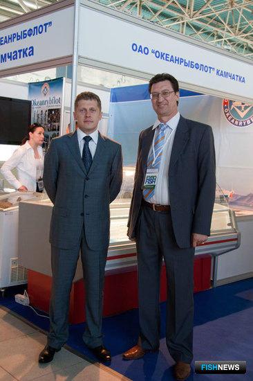"""Генеральный директор ОАО """"Океанрыбфлот"""" Евгений НОВОСЕЛОВ (слева)"""