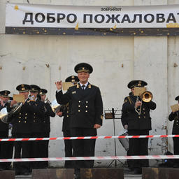 В порту «Всеволода Сибирцева» ждал торжественный прием с оркестром