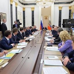Совещание президента Владимира Путина с членами Правительства. Фото пресс-службы Кремля