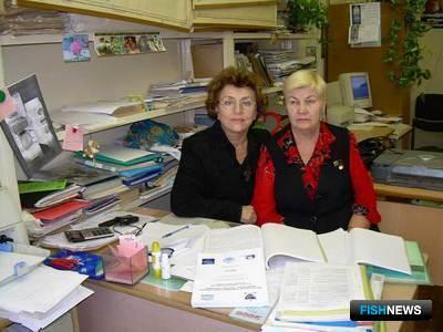 Мария Суховеева и Антонина Подкорытова