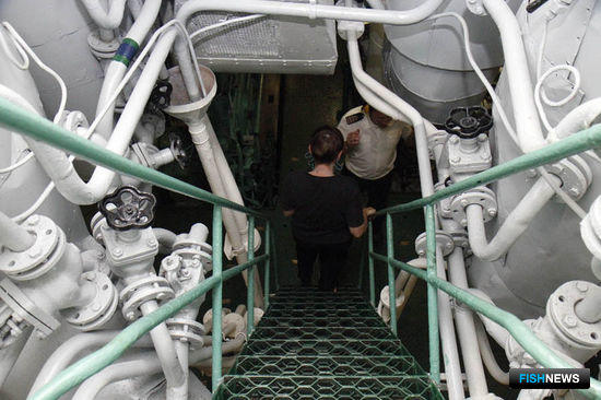 Практические занятия в машинном отделении УПС «Паллада»