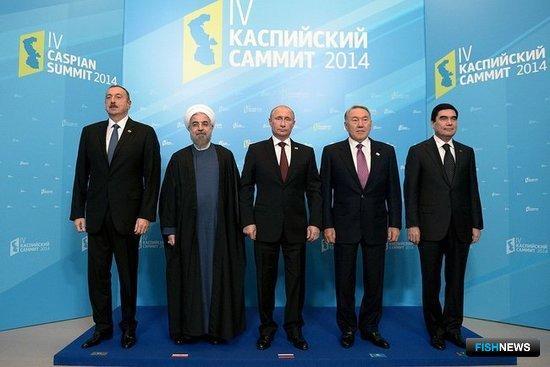 На саммит съехались главы всех прикаспийских государств. Фото пресс-службы Кремля