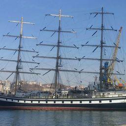 Учебное парусное судно «Паллада» прибыло во Владивосток. Фото пресс-службы Дальрыбвтуза
