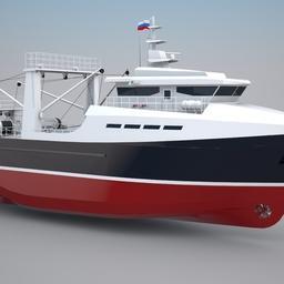 Проект МРТР-35. По умолчанию судно оборудовано траловым комплексом, но можно предусмотреть вариант оснащения для промысла креветки
