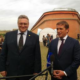 Вице-губернатор Санкт-Петербурга Сергей МОВЧАН и руководитель Росрыболовства Илья ШЕСТАКОВ