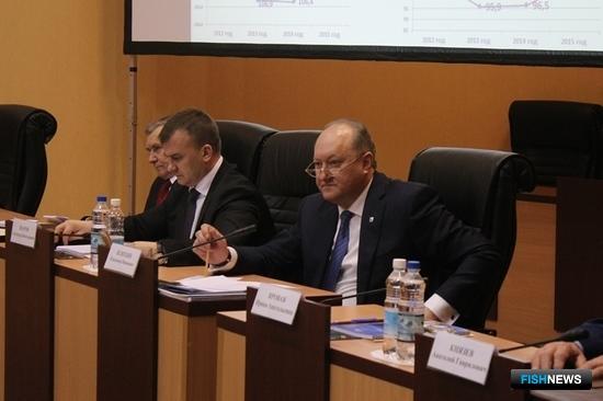 Губернатор Камчатского края Владимир ИЛЮХИН на координационном совещании. Фото пресс-службы правительства региона